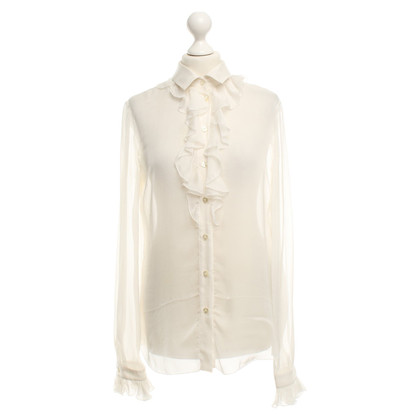 D&G Silk blouse in cream