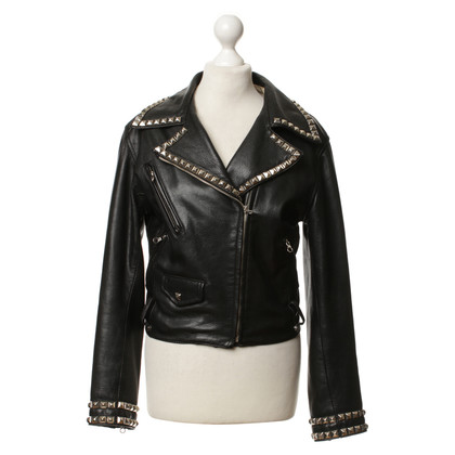 Moschino Cheap and Chic Lederjacke mit Nieten
