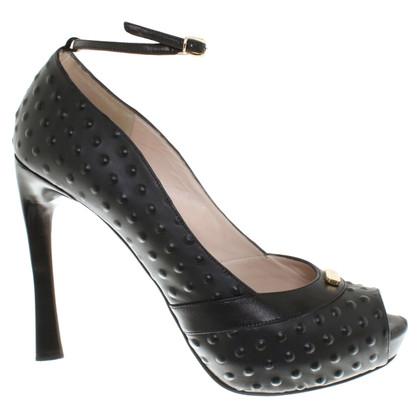 Escada Peep-dita dei piedi in nero