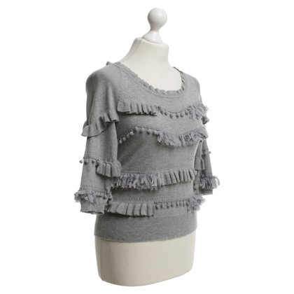 Andere Marke Knitted & Knotted - Strickoberteil in Grau