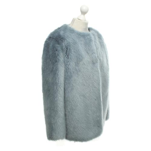 competitive price 74539 9bd6c Pinko Pelliccia ecologica in azzurro - Second hand Pinko ...