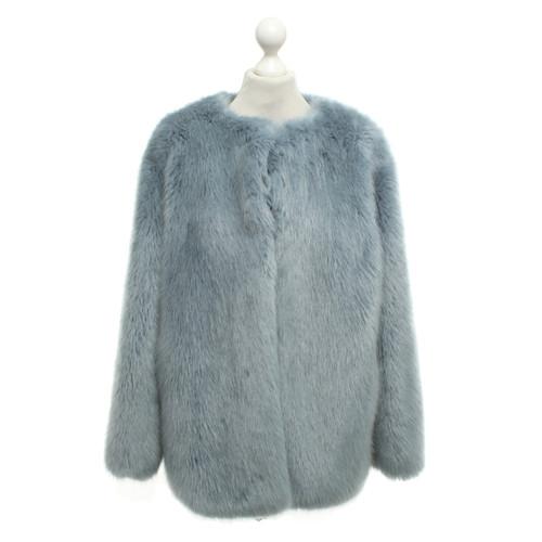 competitive price 05d99 f6325 Pinko Pelliccia ecologica in azzurro - Second hand Pinko ...