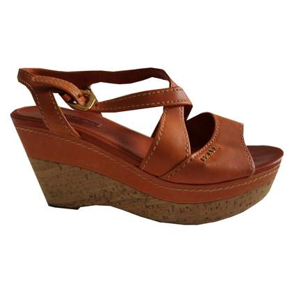 Prada Prada wedge sandals