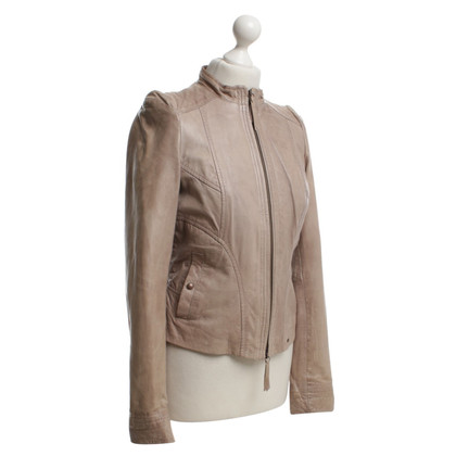 Boss Orange Leather jacket in beige