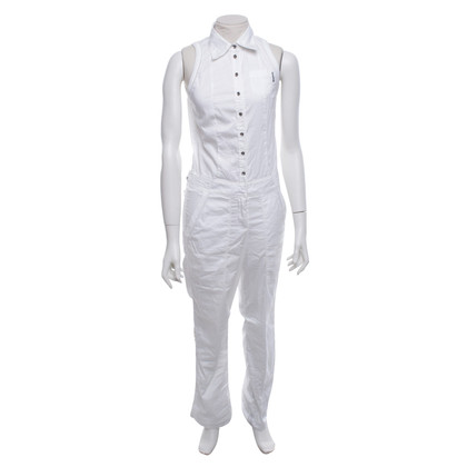 Marc Cain Sleeveless jumpsuit in white
