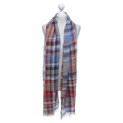 Barbour Scarf with plaid pattern
