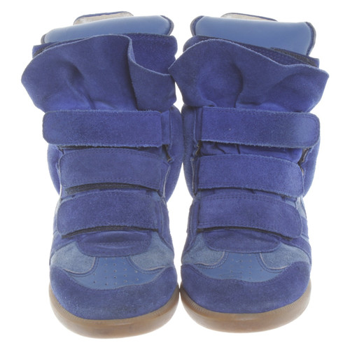 Isabel Marant Sneaker-Wedges in blauw - Second Hand Isabel Marant ...