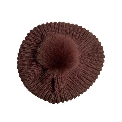 Andere Marke Pudelmütze mit Fell Puschel