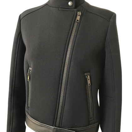 Prada Prada neoprene leather jacket