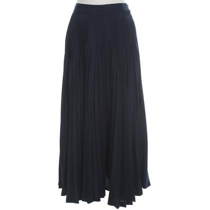 Max Mara Pleated-skirt in dark blue