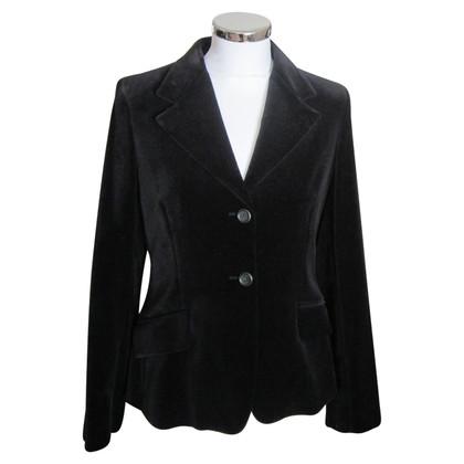 Max Mara giacca di velluto in nero