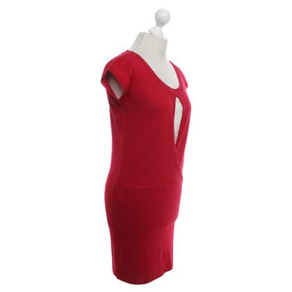 Patrizia Pepe vestito lavorato a maglia in rosso