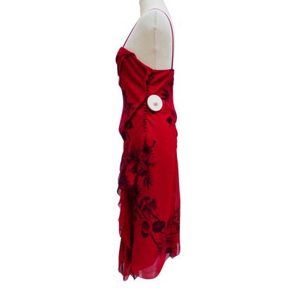 Christian Dior Silk dress with flounces