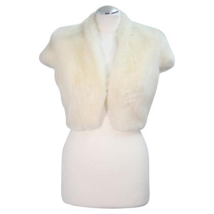 Karen Millen Fur bolero in cream