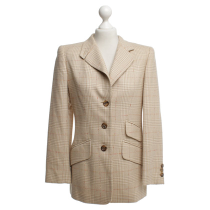 Escada Long blazer with check pattern