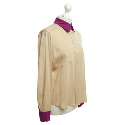 Rena Lange Silk blouse in beige / violet