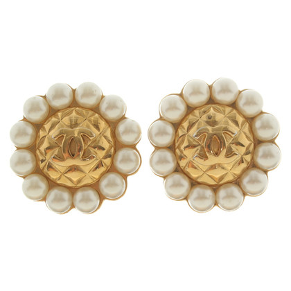 Chanel Ohrringe mit Perlen-Besatz