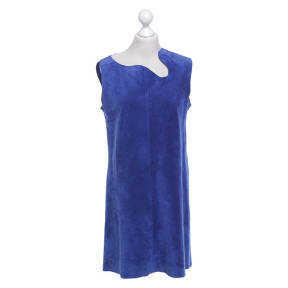 Victoria Beckham Suede dress in royal blue