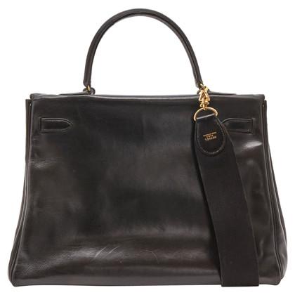 "Hermès ""Kelly Bag 35 Box Calf Leder"""