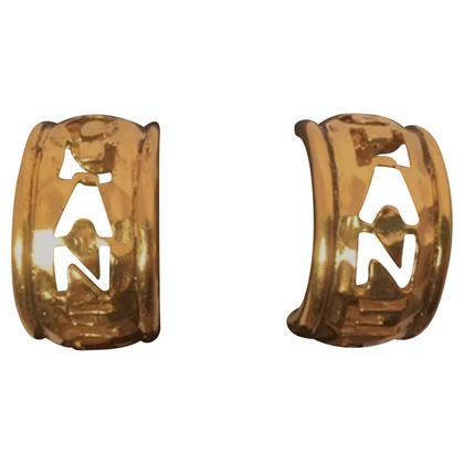 Chanel Vintage Hoop Earrings Hoop Earrings