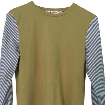 See by Chloé T-shirt with striped sleeves