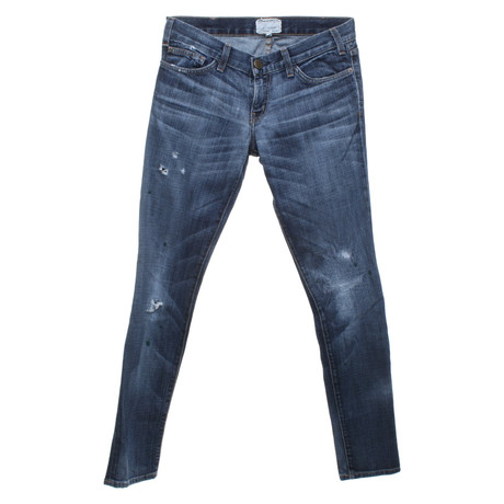 Used Jeans Blau Current im Jeans Elliott Look im Current Elliott qwaPxvOg