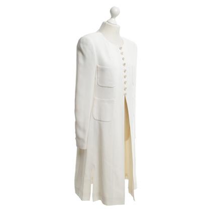 Chanel Manteau en crème blanche