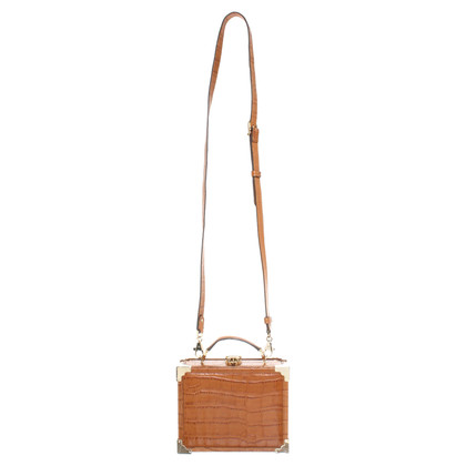 Aspinal of London Shoulder bag with crocodile embossing
