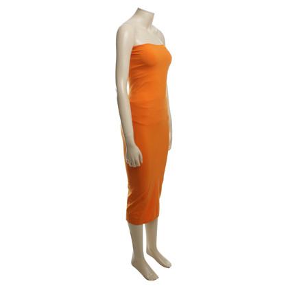 Wolford One Shoulder Dress in Orange