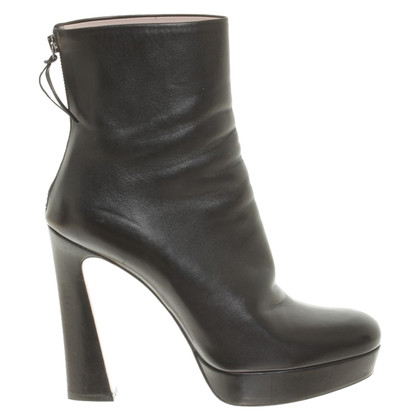 Miu Miu Leather ankle boots in black