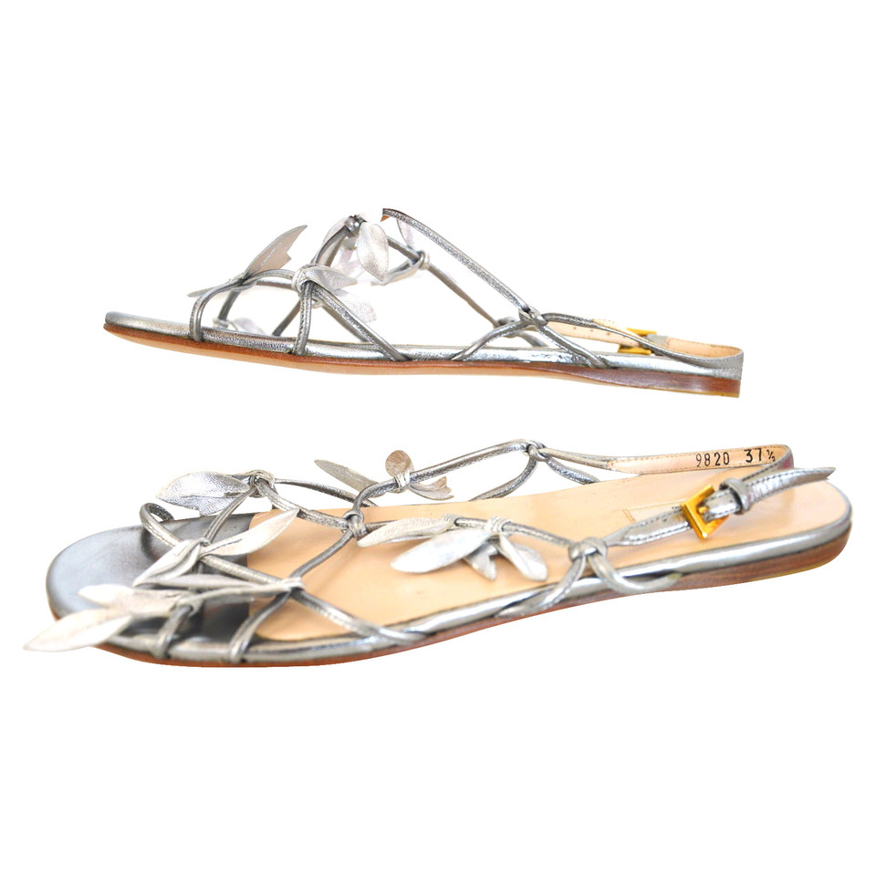 Prada Metallic Flats