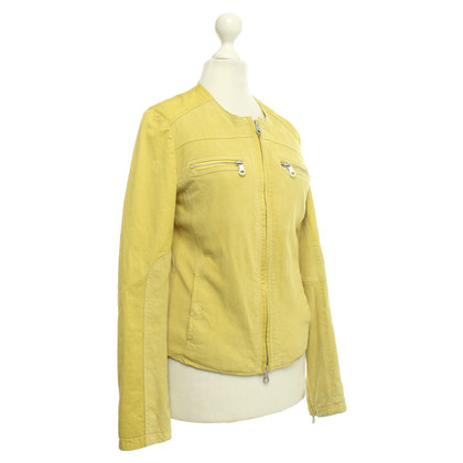 IQ Berlin Lime-colored leather jacket
