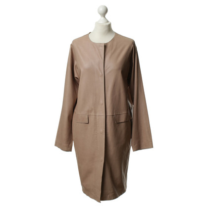 Armani Leather coat in beige