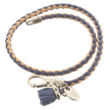 Tod's Leather bracelet in blue / nude