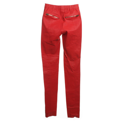 Joseph Leather pants in red