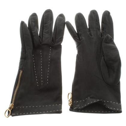 Burberry Lederhandschuhe in Schwarz