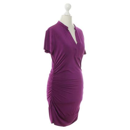 René Lezard Elastisches Kleid in Violett