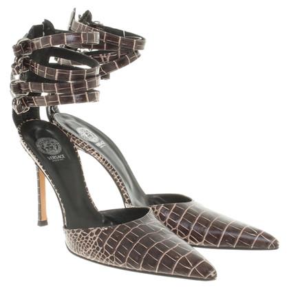 Versace pumps in ottica di rettili