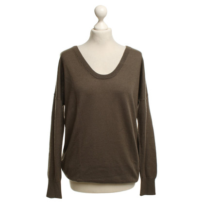 Allude Taupe colored cashmere sweater