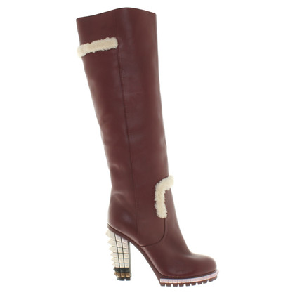 Fendi Boots in Bordeaux