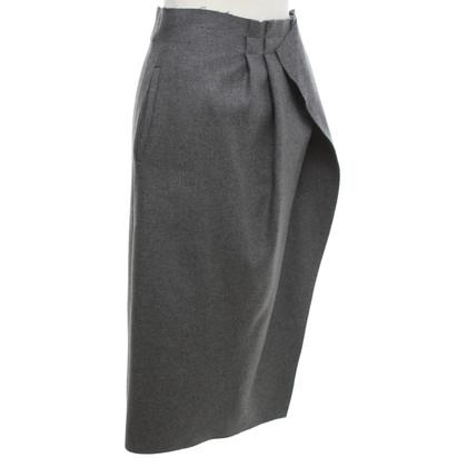 Rochas skirt in grey made of wool blend