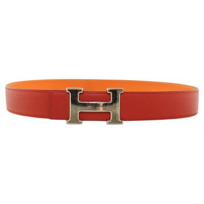 Hermès Leather belt in red