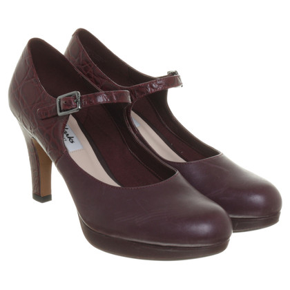 Clarks Mary Janes a Bordeaux