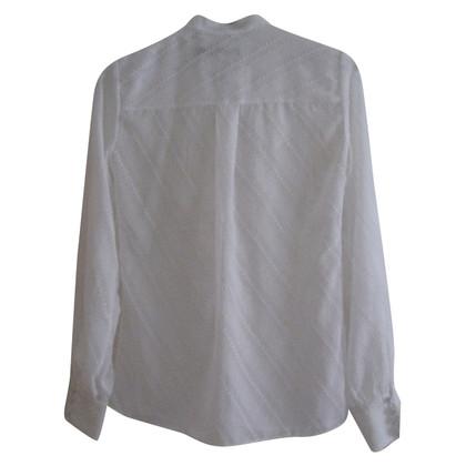 Karen Millen White frilly blouse