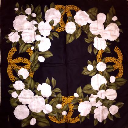 Chanel Camellia silkscarf