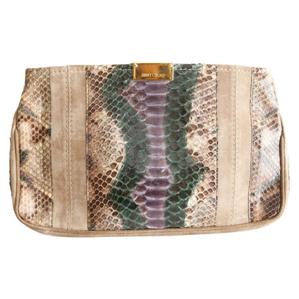 Jimmy Choo Wildleder/Pythonleder Clutch
