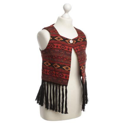 BCBG Max Azria Vest met etnische patronen