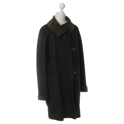 Akris Sheepskin coat in black