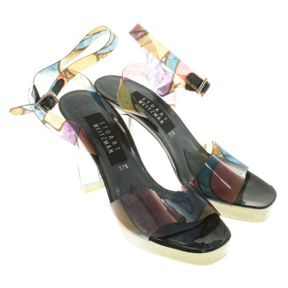 Stuart Weitzman Sandals with clear heel