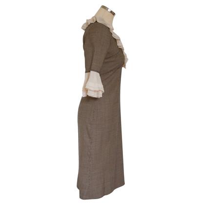 Temperley London Vestito con le maniche di seta